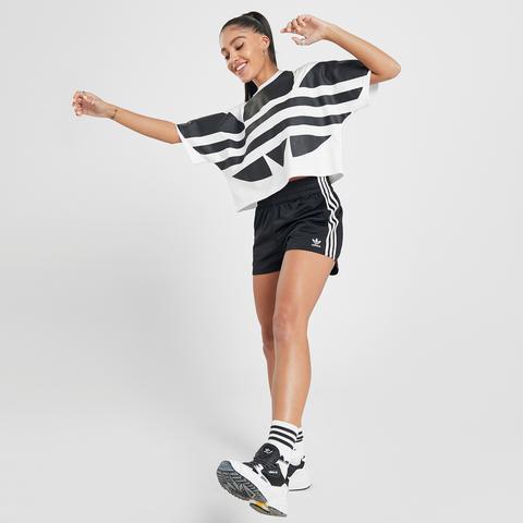 Adidas Originals 3-stripes Poly Shorts - Black - Womens