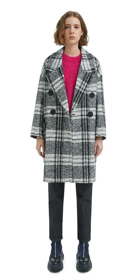 estilo moderno moda caliente precios grandiosos Abrigo Cuadros Bicolor from Bimba Y Lola on 21 Buttons