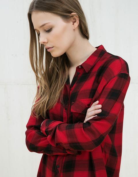 Camisa Cuadros Con Bolsillo