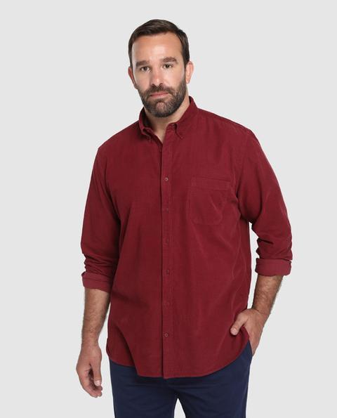 Emidio Tucci Camisa De Pana De Hombre Regular Lisa Granate Tallas Grandes De El Corte Ingles En 21 Buttons