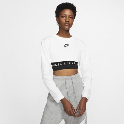 cruzar esfuerzo despreciar  Nike Air Camiseta Corta De Manga Larga - Mujer - Blanco from Nike on 21  Buttons