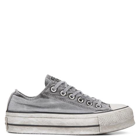 Converse Chuck Taylor All Star Lift Smoked Canvas Low Top Grey de Converse en 21 Buttons