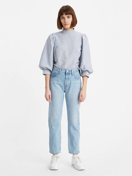 501® Levi's® Crop Jeans Indigo Clair / Luxor