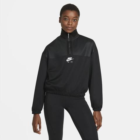 Nike Air Sudadera Con Cremallera De 1/4 - Mujer - Negro