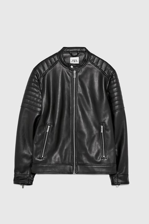 Giubbotto Biker Effetto Pelle de Zara en 21 Buttons