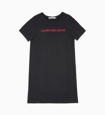 T-shirt-kleid Mit Gesticktem Logo from Calvin Klein on 21 Buttons
