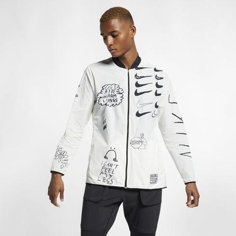 Veste De Running Imprimée Nike Nathan Bell Pour Homme Crème from Nike on 21 Buttons