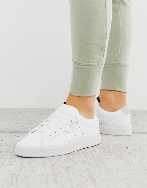 Zapatillas Blancas Sleek De Adidas Originals-blanco