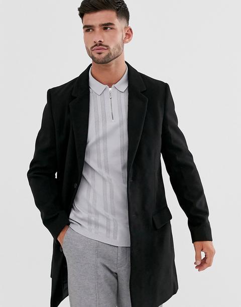 Abrigo Negro De New Look de ASOS en 21 Buttons