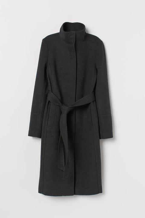 Abrigo Con Cinturón De Anudar - Gris de H&M en 21 Buttons