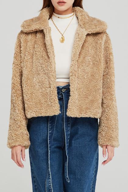 Melody Faux Fur Jacket de Storets en 21 Buttons