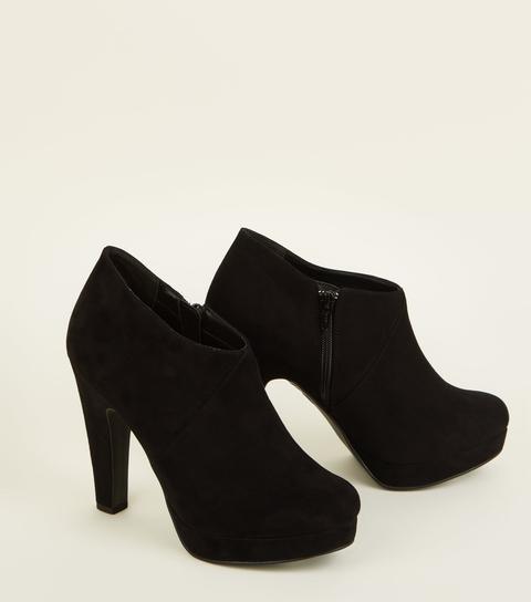 Comfort Suedette Platform Shoe Boots