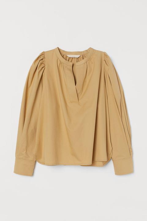 Blusa En Mezcla De Seda - Beis de H&M en 21 Buttons