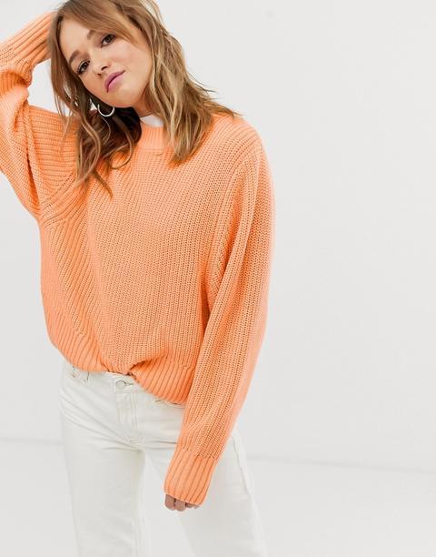 Femme Orange p/êche Tommy Hilfiger Pull