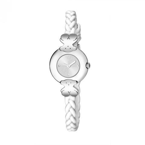 Reloj Très Chic De Acero Con Correa De Silicona Blanca de Tous en 21 Buttons