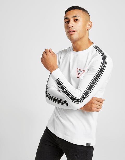 donde puedo comprar otra oportunidad nuevo alto Guess Camiseta De Manga Larga Los Angeles Tape, Blanco from Jd Sports on 21  Buttons