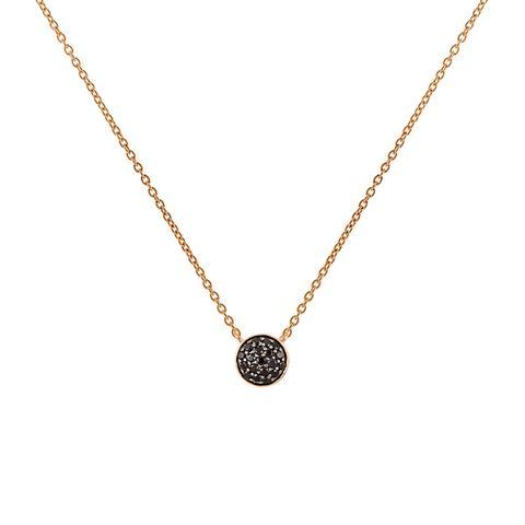 Colgante Círculo Espinelas Plata Recubierta Oro Rosa de Aristocrazy en 21 Buttons