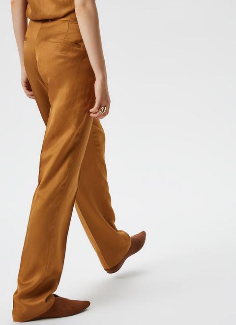 Pantalón Fluido En Viscosa Y Lino de Adolfo Dominguez en 21 Buttons