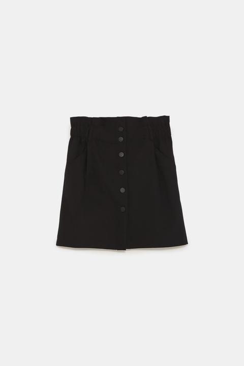 Minifalda Paper Bag