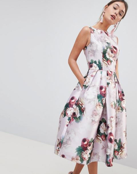 Vestido Midi Con Estampado Floral De Chi Chi London de ASOS en 21 Buttons