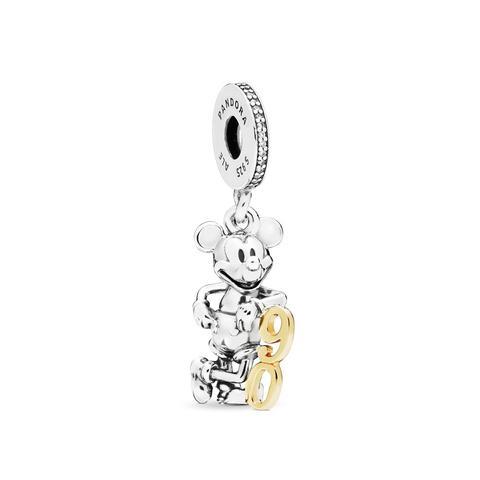 Charm Colgante En Plata De Ley Y Oro 90 Aniversario De Mickey de Pandora en 21 Buttons