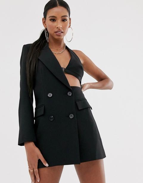 Americana Negra Con Aberturas Asimétricas De Asos Design de ASOS en 21 Buttons