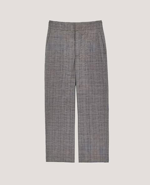 Pantalón Recto Cuadros