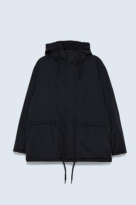 Cazadora Acolchada Capucha de Zara en 21 Buttons