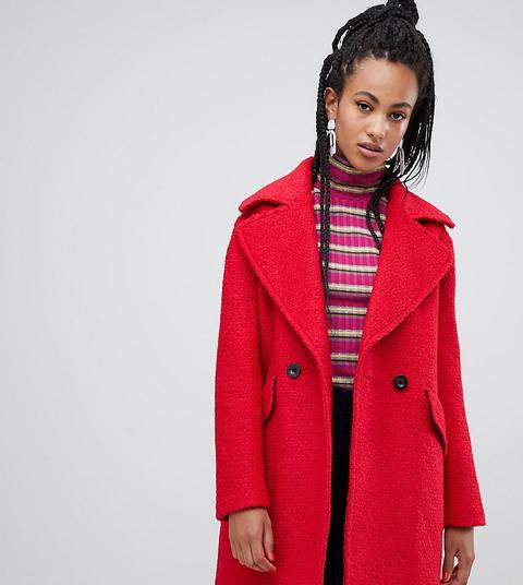 Abrigo Rojo En Tejido Texturizado De Esprit de ASOS en 21 Buttons