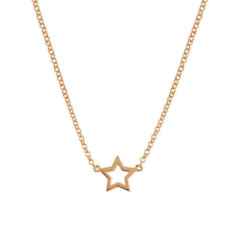Colgante Estrella Hueca Plata Recubierta Oro Rosa de Aristocrazy en 21 Buttons