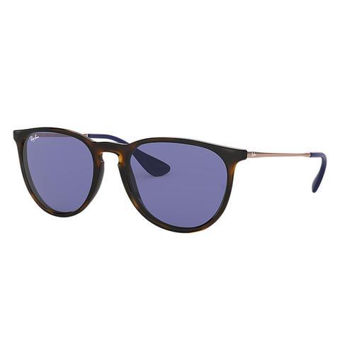 Erika Color Mix Unisex Sunglasses Lentes: Violeta, Montura: Bronce de Ray-Ban en 21 Buttons