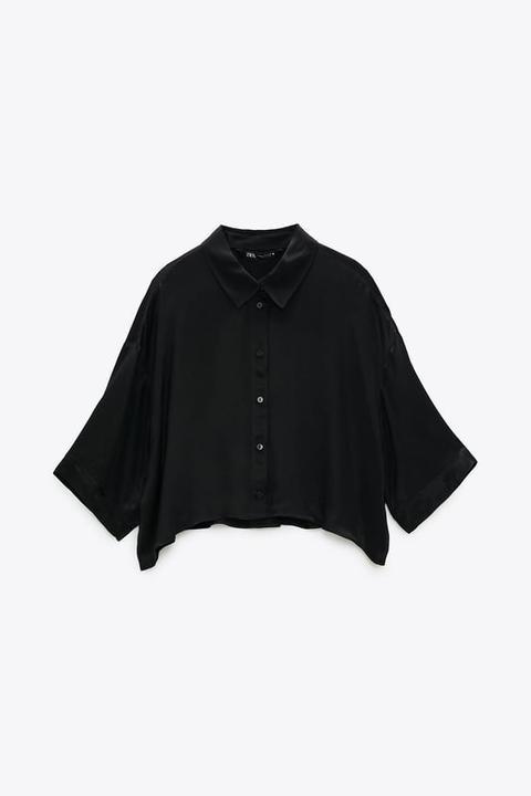 Camisa Fluida Satinada