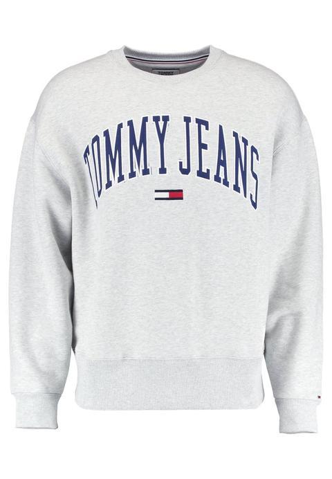 Tommy Jeans Collegiate Felpa Ice Grey Heather de Zalando en 21 Buttons