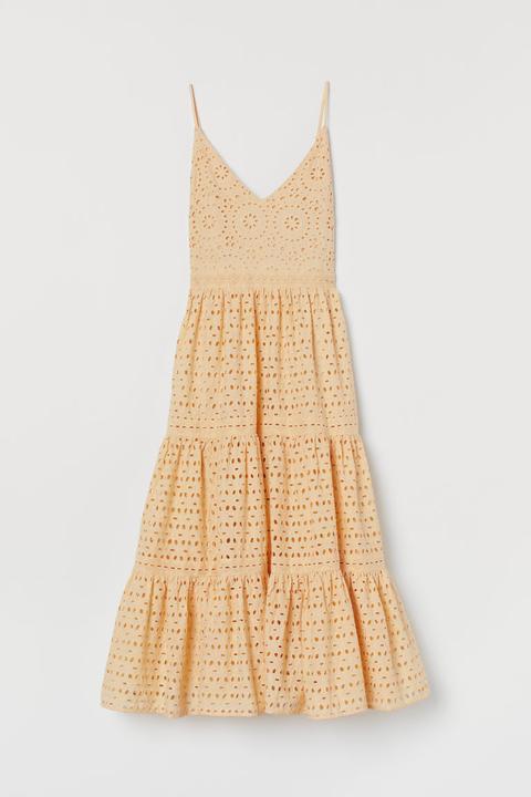 Vestido En Bordado Inglés - Amarillo de H&M en 21 Buttons