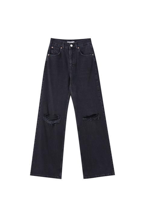 Jeans Flare Tiro Alto