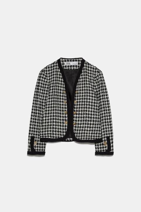 Chaqueta Tweed Corta de Zara en 21 Buttons