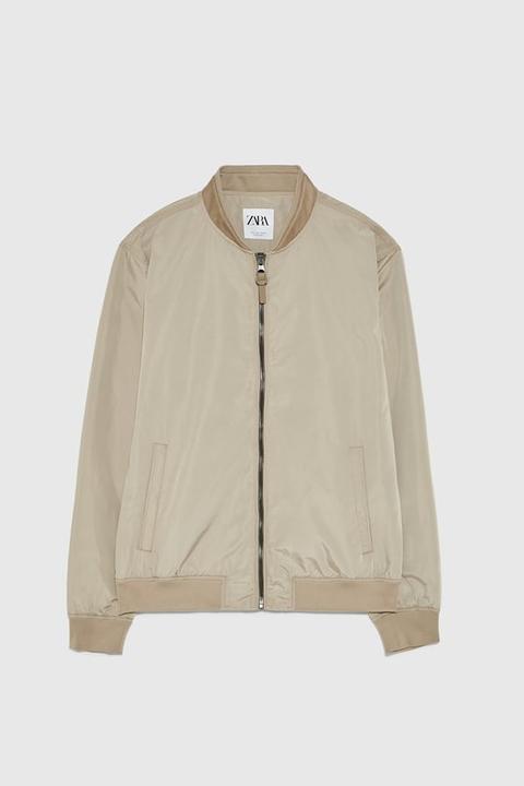Giubbotto Bomber Combinato from Zara on 21 Buttons
