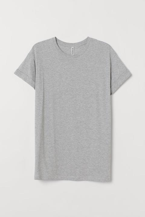 Camiseta Larga - Gris