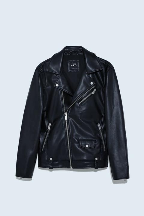 Cazadora Biker Efecto Piel de Zara en 21 Buttons