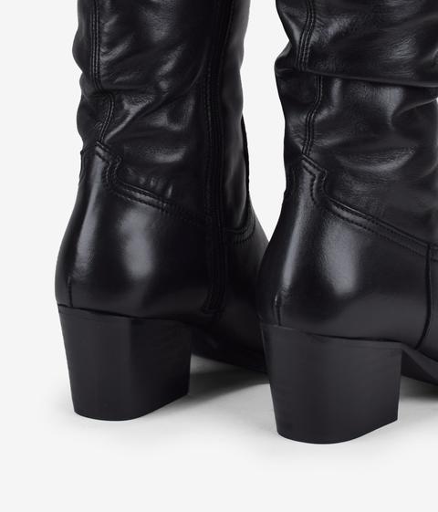 Bosanova - Botas Cowboy Negras Piel - Color: Negro - Talla 39 de Bosanova en 21 Buttons