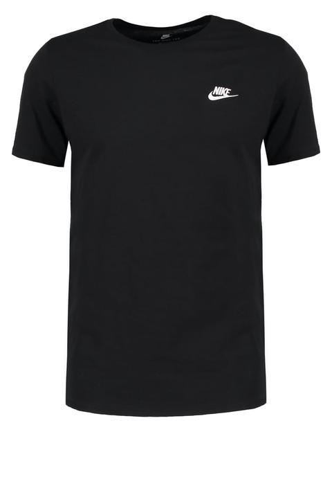 Evacuación alfiler alias  Nike Sportswear Club Embroidery Camiseta Print Black/black/white from  Zalando on 21 Buttons