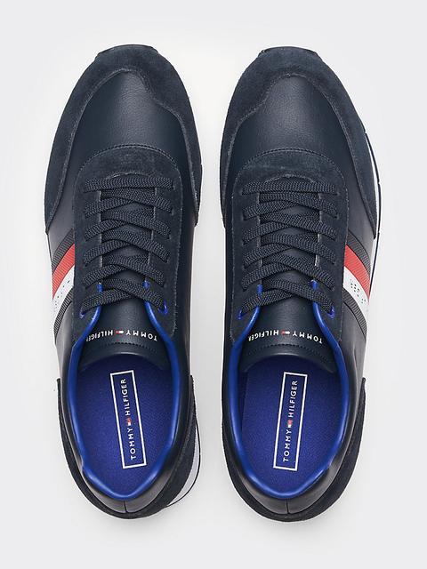 Zapatillas De Ante Con Cinta Distintiva