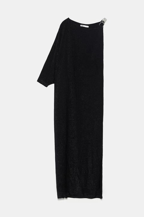 Vestido Hilo Metalizado Edición Limitada de Zara en 21 Buttons