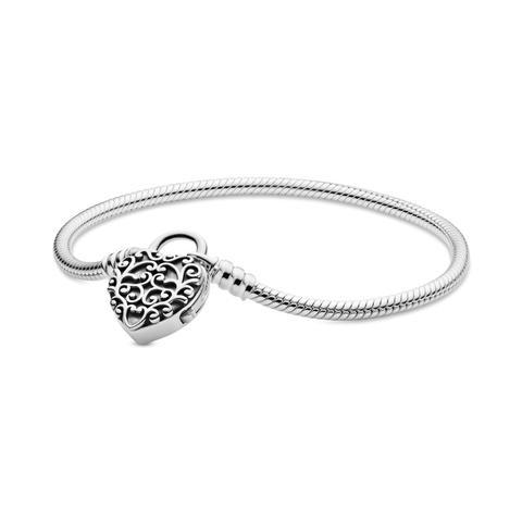 Pulsera Moments En Plata De Ley Candado Corazón Real de Pandora en 21 Buttons