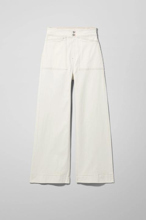 Worker White Jeans de Weekday en 21 Buttons