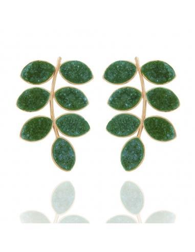 bajo precio bc895 aad96 Pendientes Lavani Leaf Verde from Lavani Jewels on 21 Buttons