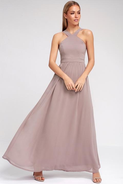 Air Of Romance Taupe Maxi Dress - Lulus de Lulus en 21 Buttons