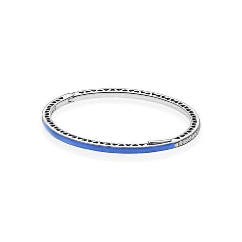 Pulsera Corazones Radiantes Azules de Pandora en 21 Buttons