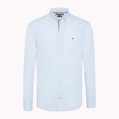 Camisa Ligera De Punto De Algodón Tejido de Tommy Hilfiger en 21 Buttons