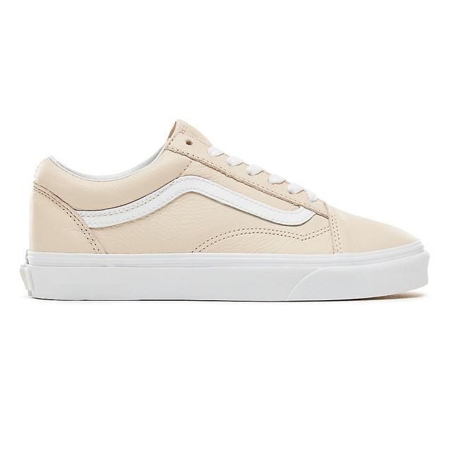 Vans Chaussures En Cuir Old Skool ((leather) Sand Dollar) Femme ...
